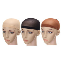 2pcs/pack Elastic Wig Hairnet Unisex Stocking Wigs Liner Cap Snood Polyester Stretch Mesh Lace Hair Net For Making Hairpiece