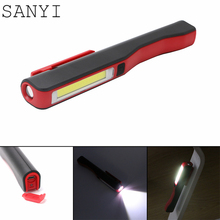 SANYI 2017 new arrival Portable Lightweight 3W COB LED Camping Work Inspection Light Lamp Pen Light Hand Torch with USB Cable(China)