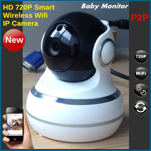 HD 720P Micro SD Card Record Wifi Wireless IP Camera Wifi P2P Indoor Use Dual Voices Baby Monitor