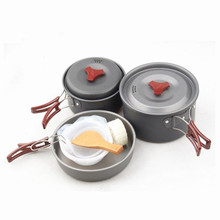 Brand Outdoor Camping Cooking set New Ultralight Portable Combination Tableware For Picnic Cookware Utensils Bowl Pan Pot