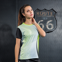 2017 sports Tennis T-shirt Women's sportswear Game sets , Female table tennis shirt , Badminton shirt W1021(China)