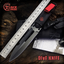 Best Quality BIGONG Diving Knife 7Cr17Mov steel Blade fiber plast handle EXTREMA RATIO survival knife Outdoor Preferred Tool(China)