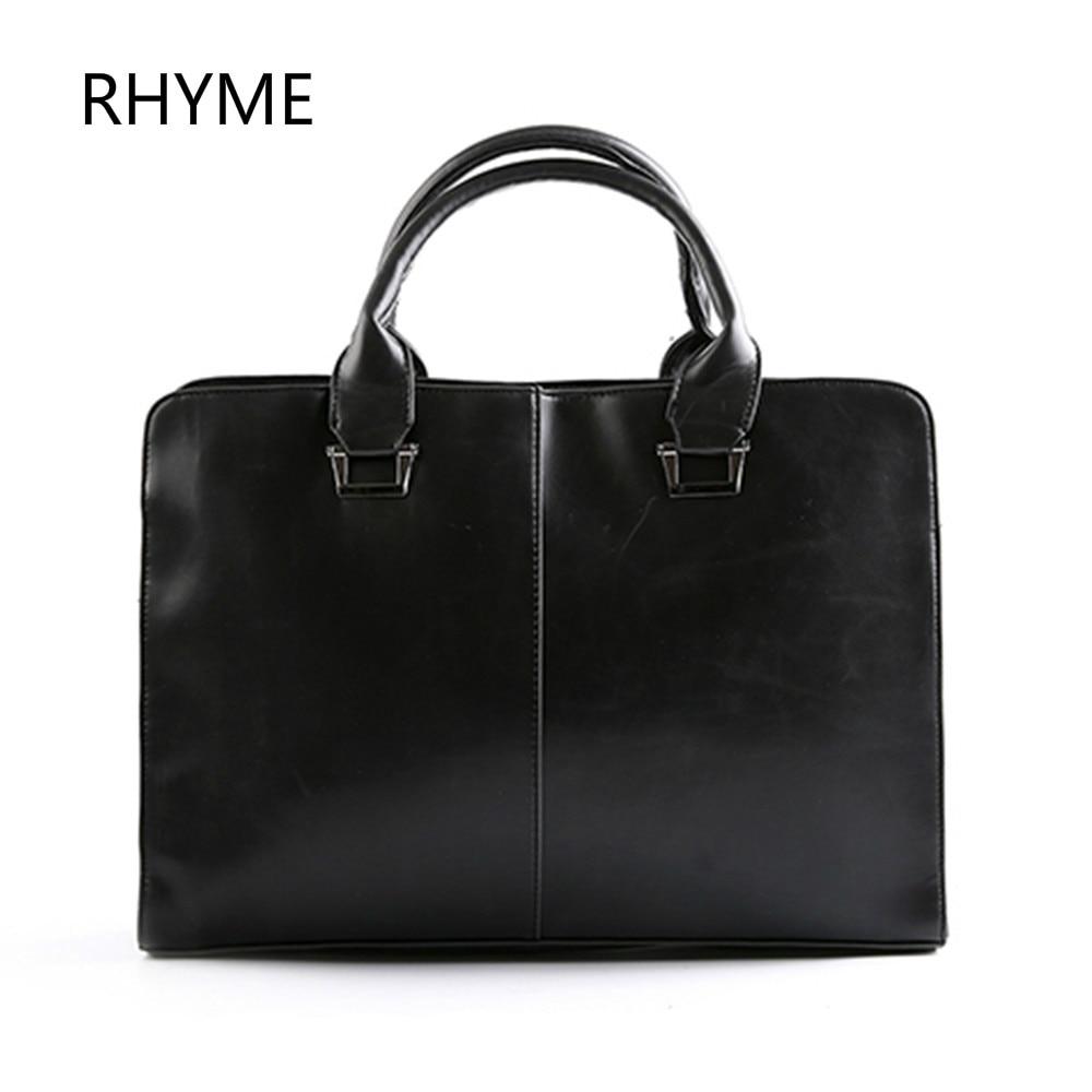 Rhyme New Fashion Men Bags Genuine Leather Business Travel Messenger Bag Brand Design Mens Shoulder Bag 2 Colors<br><br>Aliexpress