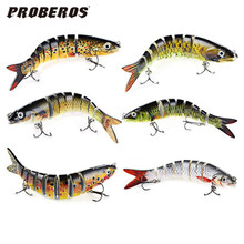 Hot New 13.cm Swim Lifelike Fishing Minnow Lure Jointed Crank Bait Crankbait Bass Pesca Tackle Treble Hook Bait Wobblers Fishing