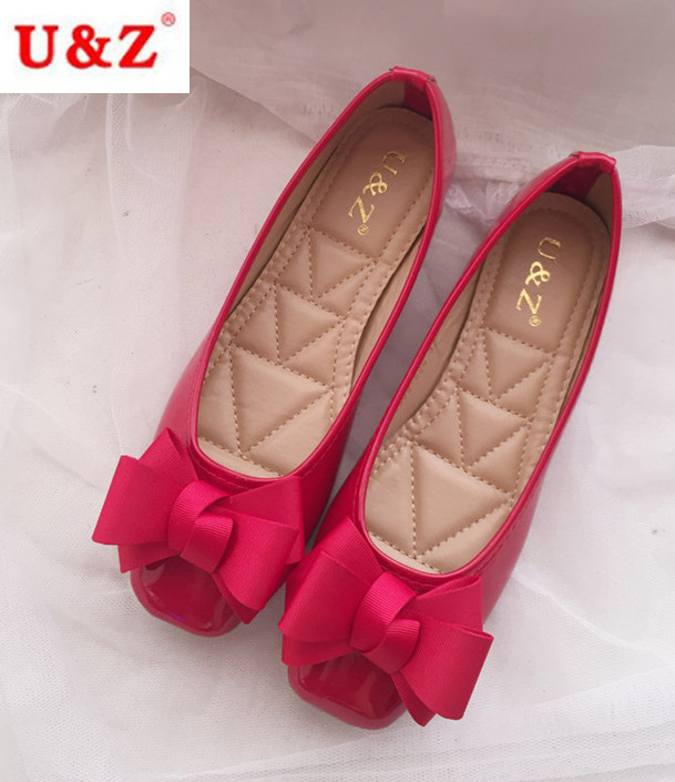 2017 U&amp;Z HongKong brand square toe 2cm heel pumps,Nude/Beige/Black Diamond lattice Patent leather block kitten heels bow<br>