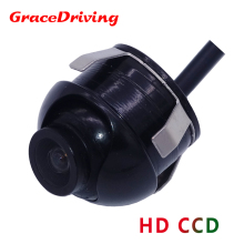 Free Shipping Mini CCD HD Night Vision 360 Degree Car Rear View Camera Front Camera Front View Side Reversing Backup Camera(China)