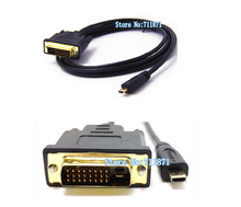 1.8M Micro HDMI to DVI Video Cable HDMI D Male to DVI Line Digital camera Mobile phone Micro HDMI connect DVI LCD Monitor TV