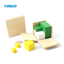 Wood Montessori 2n Rules Cube Multiples of Number two Learning Math School Kindergarten Teaching Tools Kids Toys Educational Toy