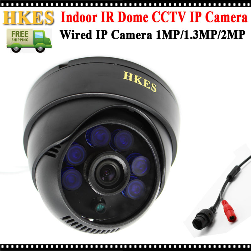 HKES High Resolution 1920*1080P IP Camera 2MP Indoor IR Dome Security Camera 720P 960P<br><br>Aliexpress