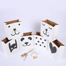 Nordic Style Large Cartoon Storage Bags Children Baby Play Toys Clothes Organizer Kraft Paper Kids Laundry Bag Home Decor(China)
