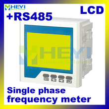 LCD digital frequency counter with RS485 120*120mm 96*96mm single phase digital Frequency meter
