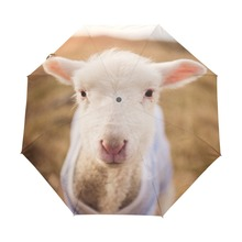 2017 Sheep Umbrella Animals Umbrellas Sun Women Parasol Female Plegable Sombrillas Paraguas Mujer Fashion(China)