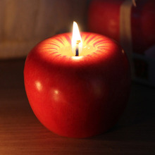 Super Cute! Red Apple Orange Shape Fruit Tea Candles Christmas Apple Orange Smokeless Candle Home Decoration Sweety Gifts(China)