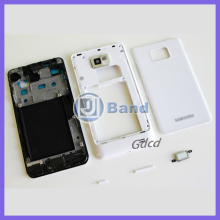 White Genuine Complete Full Housing Cover Frame Door Case with buttons for Samsung Galaxy S2 SII i9100 Replacement Parts