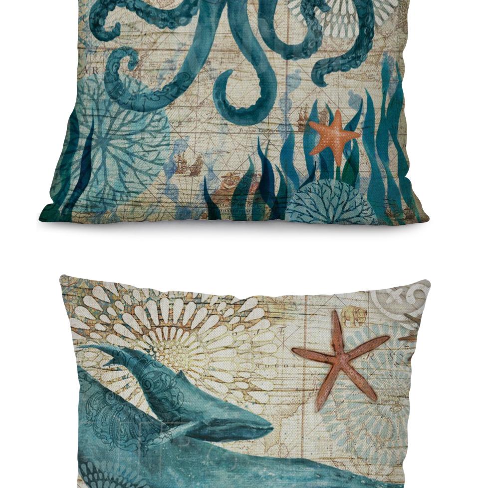 Mereloomade piltidega dekoratiivsed padjapüürid