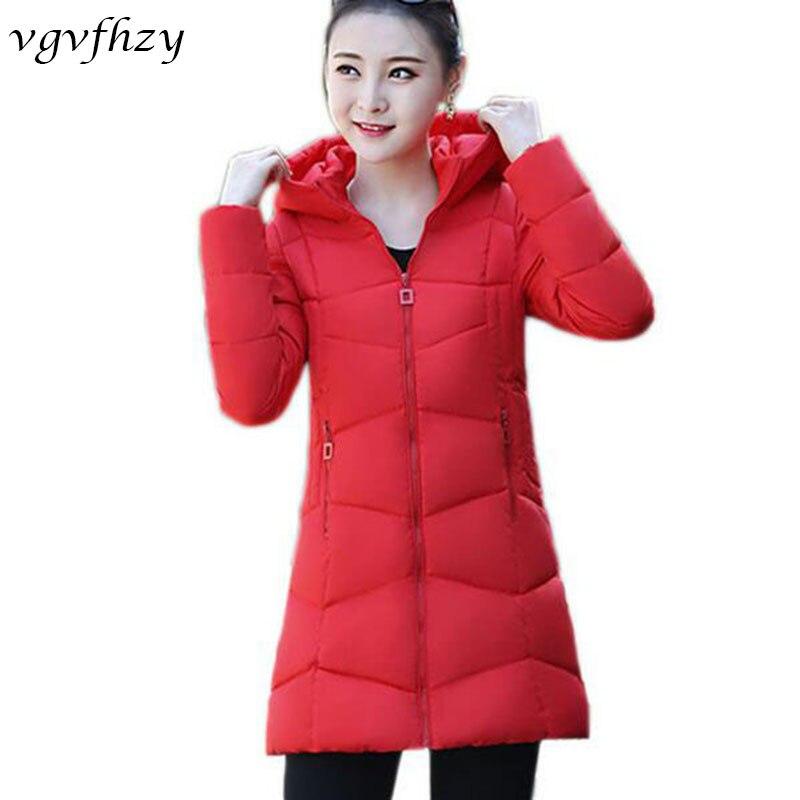 Casual Women Winter Jacket 2017 New Slim Hooded Cotton Coat Female Plus Size Overcoat Student Parkas Mujer LU528Îäåæäà è àêñåññóàðû<br><br>