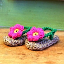 Crochet Baby Sandals,Baby Summer Shoes, Handmade Crochet Baby girls Sandals,Barefoot sandals 3 colors baby sandals 0-12month(China)