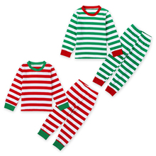 2016 Baby Boys Girls Christmas Pajamas Kids Long Sleeve Xmas PJS Cotton Pajamas Children Autumn Clothing Set(China)