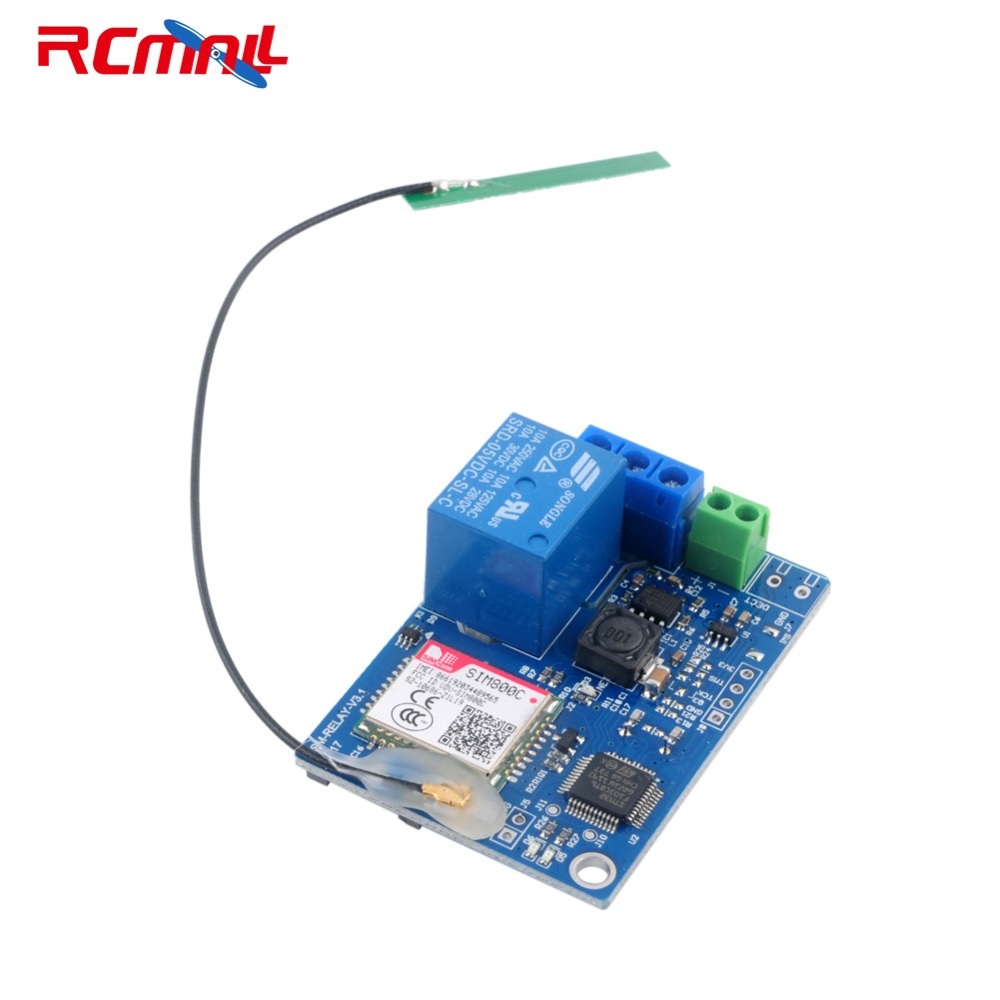 Rcmall 1 Channel Relay Module Sms Gsm Remote Control Switch Sim800c Unicom Circuit Breaker Twin Pack 16 99 Two Stm32f103cbt6 For Greenhouse Oxygen Pump