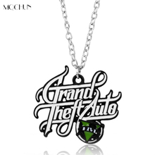 Hot PS4 GTA 5 Game Necklace Grand Theft Auto V Pendant Necklace For Men Boys Fans Jewelry Cosplay Christmas Gift