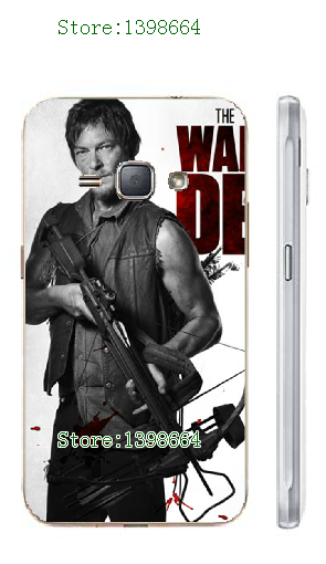 2016 new fashion online-custom hot selling the walking dead white hard cases for Samsung Galaxy J5 Free Shipping