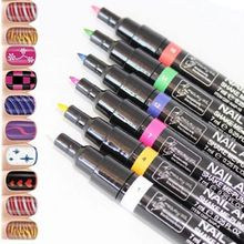 New 16 Colors Nail Art Pen Polish Painting Dot Drawing UV Gel Design Manicure Beauty Tools