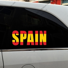 Spain Flag colors stitching Car Trunk Decal Bumper Sticker,choose your size!(China)