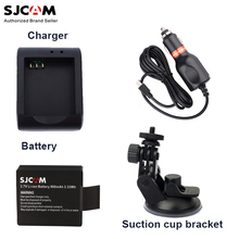 SJCAM 3.7V Li-ion Battery +Battery Charger+Car Charger+Suction Cup for SJCAM Sj5000 / Sj4000 / M10 Series Sports Action Camera(China)