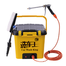On-board Electric High Pressure Washing Machine To Wash The Car King Car Washing Machine 35L Intelligent Pump All Copper(China)