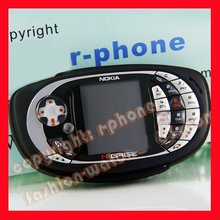 QD Game Phone Original Nokia N-Gage QD CellPhone Black + Battery + Charger + Gift(China)