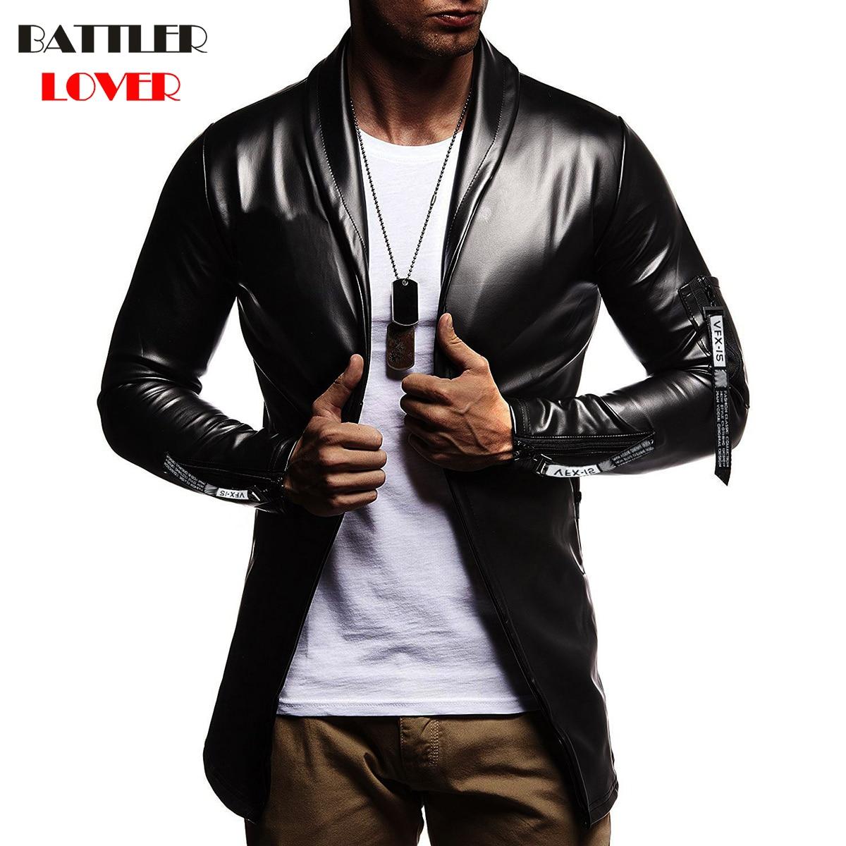 Luxury Men Blazer Spring Fashion Brand High Quality PU Leather Slim Fit Elastic Suit Mens Terno Masculino Blazers Men DJ Jacket