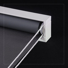 Europen Design Solid Color 100% Blackout Roller Blinds with front valance for Window Decoration Made to Order Roller blinds(China)