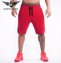 New Fashion Men Sporting Beaching Shorts Trousers Cotton Bodybuilding Sweatpants Fitness Short Jogger Casual Gyms Men Shorts(China)