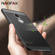 NAGFAK Luxury Heat dissipation Hard Plastic Full Cover Case For Xiaomi Redmi NOTE 4X 4 Pro PC Cases For Redmi NOTE 4 32G 64G(China)