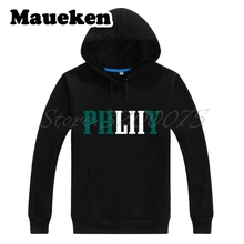 Men Hoodies 2017 2018 Philadelphia Philly phliiy LII World Champions Foles Sweatshirts Thick for Eagles fans Winter W18013101(China)