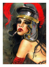 Hand Painted Nude Wall Art Picture for living room Famous Oil Paintings reproductions of Brian M.viveros GLADIATE HER(China)