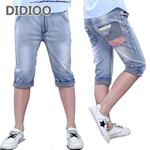 Shorts for Boys Summer Jeans Trousers for Children Knee Length Pants Kids Denim Skinny Pants for Boys Bottoms 4 8 10 11 12 Years