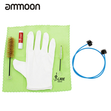 Newest Brasswind Instrument Trumpet Trombone Tuba Horn Cleaning Set Kit Tool with Cleaning Cloth Brush Cork Grease Gloves(China)