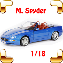 New Arrival Gift Spyder 1/18 Metal Model Car Collection Static Car Window Showcase Toy Vehicle Mens Favour Present Simulation(China)