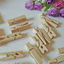 Buy Mini clothes pegs clothespins kids baby shower decor christmas tree rustic wedding banner clip Paper Photo Hanging Wooden Craft for $2.67 in AliExpress store