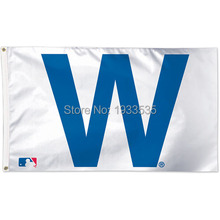 Chicago Cubs Team W Flag 3' x 5' Banner brass metal holes Flag