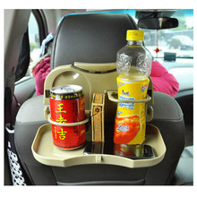 Stable Folding Car Dining Table Auto Drink Food Cup Tray Car Back Seat Table Car Pallet Car Stowing Tidying For Outing(China)