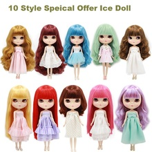 "[JV004] New Special Offer Free Shipping Hot Sell 11.5"" Ice Doll # 10 Style with Bang Dressed Doll Ice Doll For Selection Retail(China)"