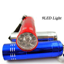 9 led Mini Flashlight flash torch lamp AAA battery small pocket penlight protable keychain light Lamp high power for camping