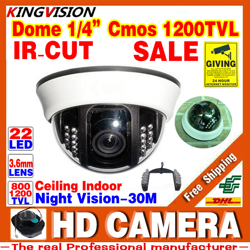 HD Real 1/3cmos 1200TVL Cctv Analog Camera Security Surveillance Indoor DOME 22LEDs Infrared IRCUT Night Vision Color Home Video<br><br>Aliexpress