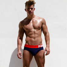 Buy Pink Hero Hot Men Briefs Underwear Pure Cotton Pure Color Sexy Trunks Briefs Men Underwear Cuecas Gay Underwear Shorts Briefs