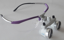 Optiobal Frames for TAO'S  2.5 X 420mm  T1 White Surgical Loupes