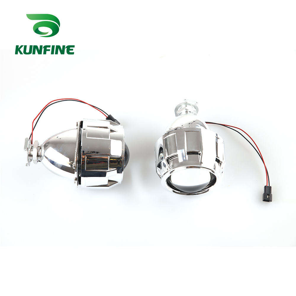 KUNFINE 2PCSlot 2.5 inch Bi-Xenon HID Projector Lens With high low beam for car headlight H1 halogen or xenon bulb (4)