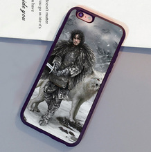 Game Of Throne Jon Snow Printed Mobile Phone Cases OEM For iPhone 6 6S Plus 7 7 Plus 5 5S 5C SE 4S Soft Rubber Skin Back Cover