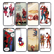 Coque Funny Deadpool Spiderman Capa Phone Cases for iPhone X 8 8Plus 7 5S 6 6S 7 Plus SE 5C 5 4S 4 Case for iPod Touch 6 5 Cover